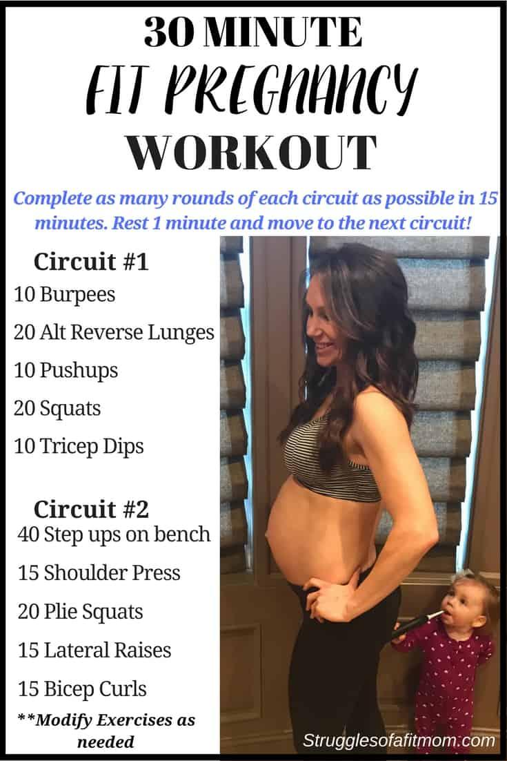 Quick 30 Minute Prenatal workout