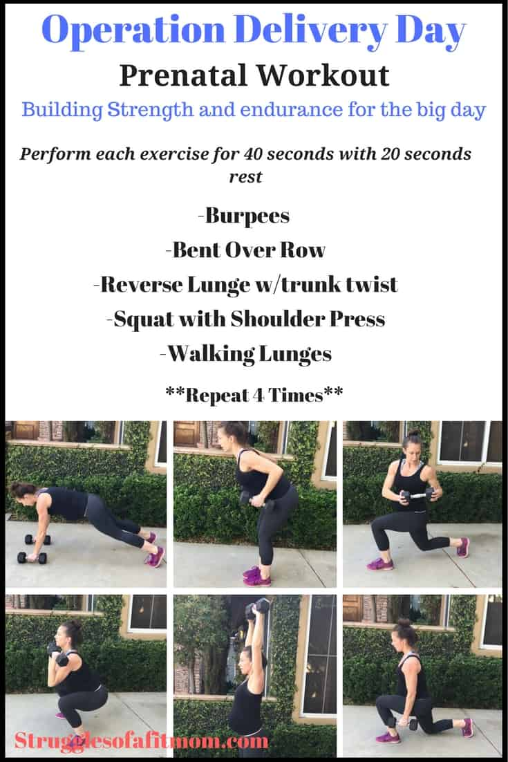 Operation delivery day prenatal workout
