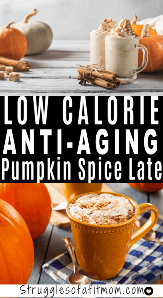 Delicious low calories pumpkin spiced late
