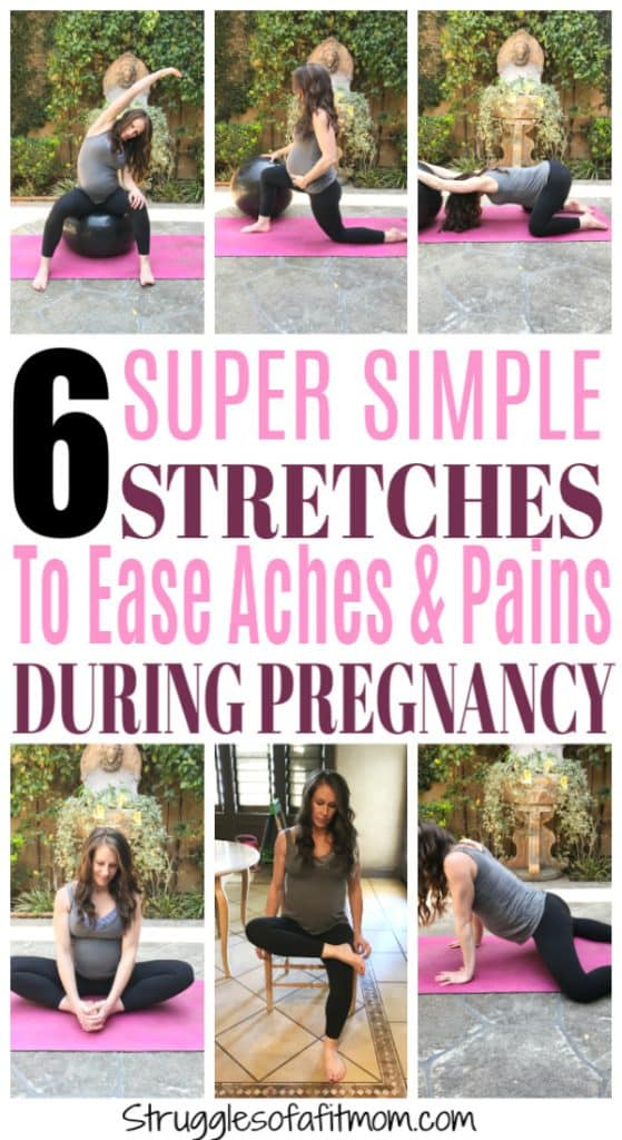 Simple stretches to help reduce aches and pains during pregnancy