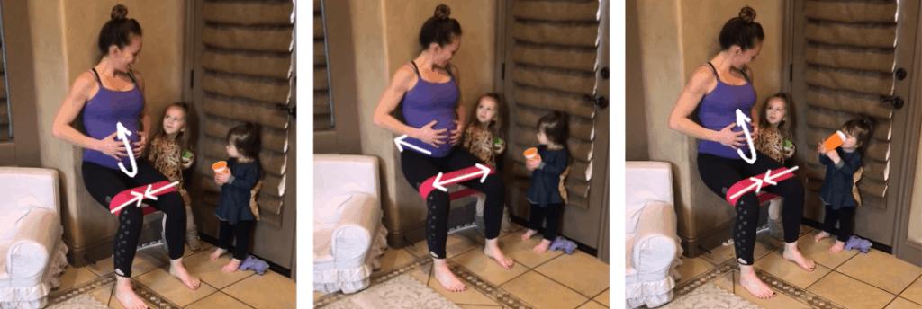 Prenatal Home Exercises: Wall Squat
