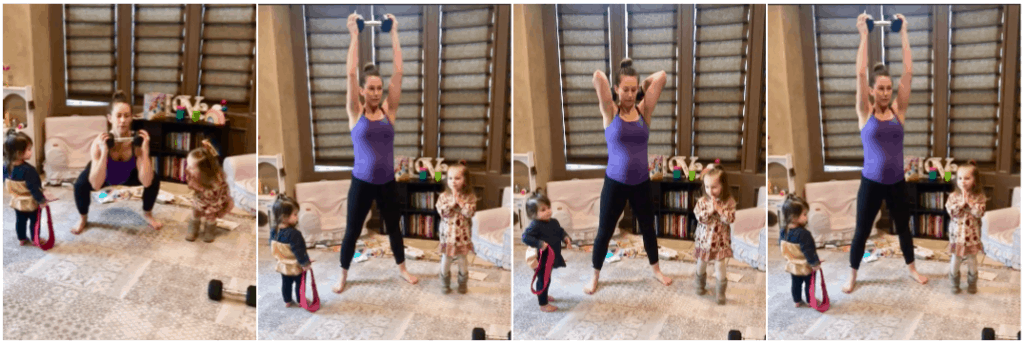 Prenatal Home Exercise- Squat Press Tricep Extension