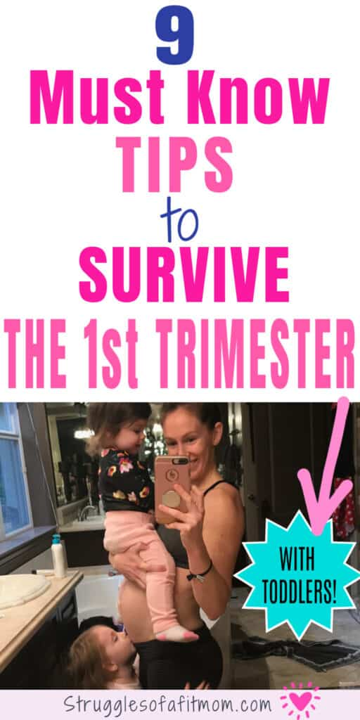 tips to survive the first trimester with toddlers