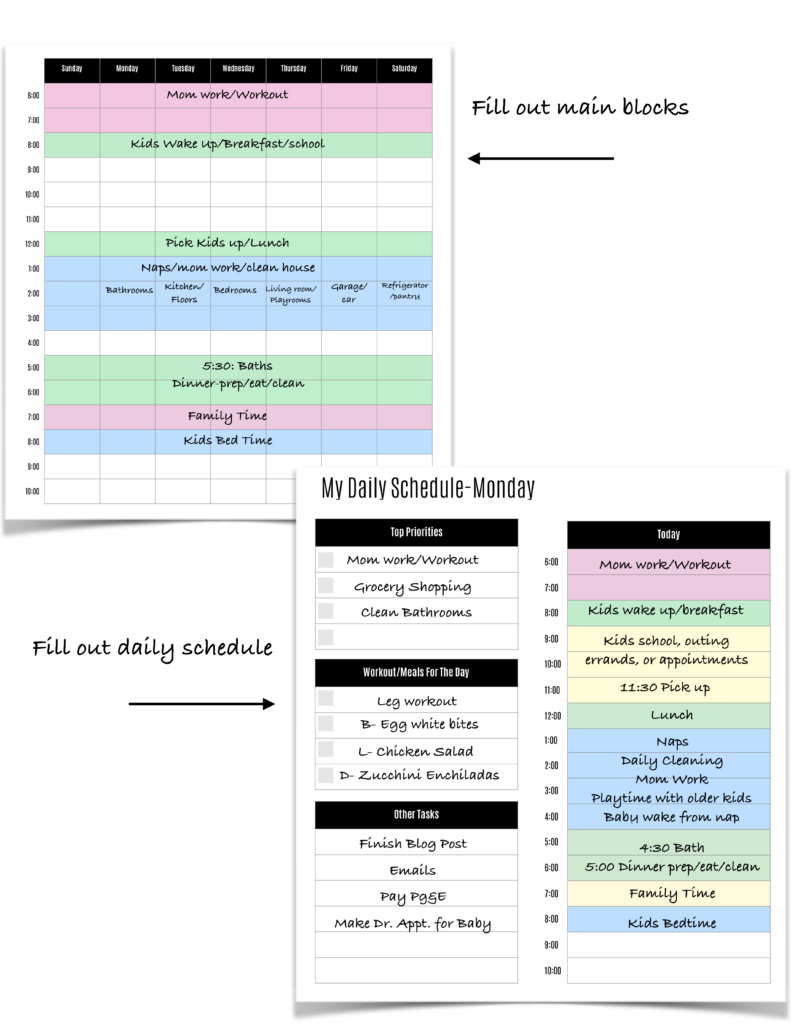 example stay at home mom schedule