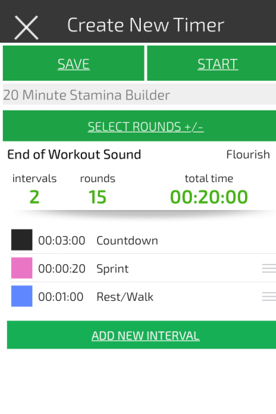an image showing how to set an interval time to do a treadmill hiit workout for fat loss
